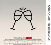 web line icon. glasses of... | Shutterstock .eps vector #554704801