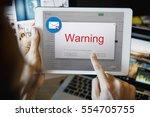 e mail popup warning window... | Shutterstock . vector #554705755