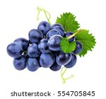grapes isolated on the white... | Shutterstock . vector #554705845