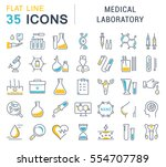 set vector line icons  sign and ... | Shutterstock .eps vector #554707789