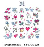 valentine's day set. collection ... | Shutterstock .eps vector #554708125