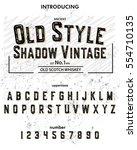 font.typeface. script. old... | Shutterstock .eps vector #554710135