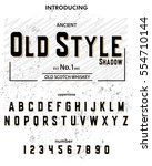 typeface. label. old style... | Shutterstock .eps vector #554710144