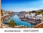 view on old town ciutadella sea ... | Shutterstock . vector #554710495