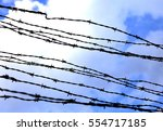 Barbed Wire To Demarcate The...