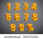 3d golden yellow metallic... | Shutterstock .eps vector #554721391