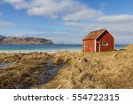 typical norwegian beach with a... | Shutterstock . vector #554722315