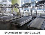 image of treadmills in a... | Shutterstock . vector #554728105