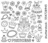 my little princess hand drawn... | Shutterstock .eps vector #554728945
