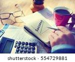 success growth development... | Shutterstock . vector #554729881