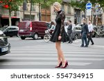 paris july 8  2015.famous... | Shutterstock . vector #554734915