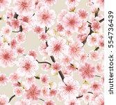 seamless background pattern of... | Shutterstock .eps vector #554736439