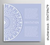 invitation or card template... | Shutterstock .eps vector #554739679