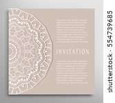 invitation or card template... | Shutterstock .eps vector #554739685