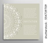 invitation or card template... | Shutterstock .eps vector #554739709