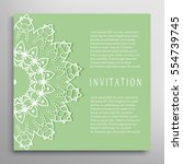 invitation or card template... | Shutterstock .eps vector #554739745