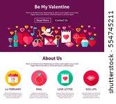 web design be my valentine.... | Shutterstock .eps vector #554745211