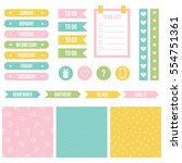 set  collection of cute...   Shutterstock .eps vector #554751361