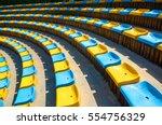 perspective diagonal curve... | Shutterstock . vector #554756329