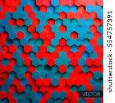 hexagonal vector background.... | Shutterstock .eps vector #554757391