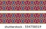 trendy  modern ethnic  beaded ... | Shutterstock .eps vector #554758519