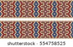 trendy  modern ethnic  beaded ... | Shutterstock .eps vector #554758525