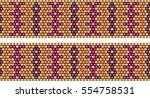 trendy  modern ethnic  beaded ... | Shutterstock .eps vector #554758531