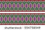 trendy  modern ethnic  beaded ... | Shutterstock .eps vector #554758549