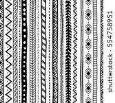 ethnic seamless pattern.... | Shutterstock .eps vector #554758951