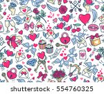 vector seamless pattern.... | Shutterstock .eps vector #554760325