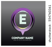 e letter colorful logo in the... | Shutterstock .eps vector #554760361