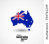 australia day. 26 january.... | Shutterstock .eps vector #554761249