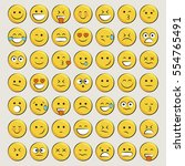 set of emoticons  icon pack ... | Shutterstock .eps vector #554765491