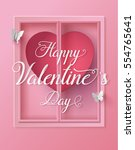 concept of happy valentine day... | Shutterstock .eps vector #554765641