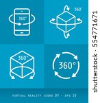 virtual reality icons series ...   Shutterstock .eps vector #554771671