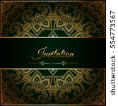 wedding invitation or card with ... | Shutterstock .eps vector #554773567