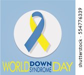 world down syndrome poster  in... | Shutterstock .eps vector #554776339