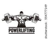 strong man lifting weight ... | Shutterstock .eps vector #554777149