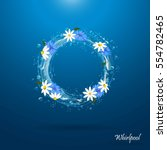 water circle with flowers.... | Shutterstock .eps vector #554782465