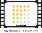 5 star rating icon vector... | Shutterstock .eps vector #554791024