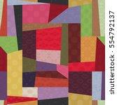 traditional korean patchwork... | Shutterstock .eps vector #554792137