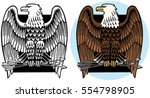 american bald eagle icon | Shutterstock .eps vector #554798905
