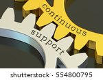 continuous support concept on... | Shutterstock . vector #554800795