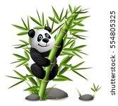 smiling cartoon panda hanging...