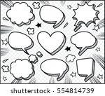 hand drawn of speech comic... | Shutterstock .eps vector #554814739