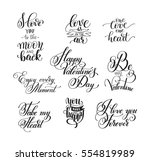 set of handwritten lettering... | Shutterstock .eps vector #554819989