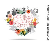 falling in love writing message ...   Shutterstock .eps vector #554822839
