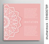 invitation or card template...   Shutterstock .eps vector #554830789