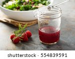 fresh and bright raspberry... | Shutterstock . vector #554839591