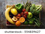 fresh and colorful vegetables... | Shutterstock . vector #554839627
